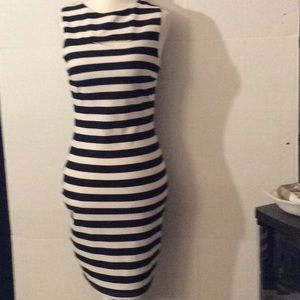 Bishop and Young white & black stripes dress # M
